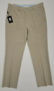 NWT $85 Footjoy FJ Mens Performance Golf Pants Khaki 36 x 34 24102 Perf NEW