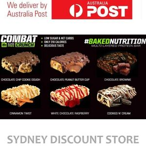 MUSCLEPHARM COMBAT CRUNCH PROTEIN BARS SINGLE BARS 1-12 BARS MIX N MATCH