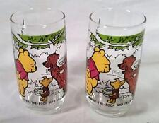 2 VTG SEARS WALT DISNEY PRODUCTION WINNIE THE POOH & FRIENDS COLLECTOR'S GLASSES