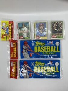 Lot of 3 total 1981 TOPPS Baseball GROCERY CELLO Racks and Rack Pack.