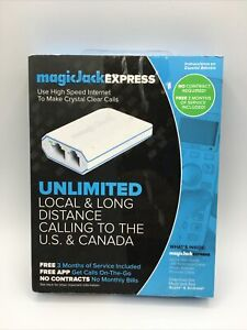 MAGICJACK EXPRESS DIGITAL PHONE SERVICE INCLUDES 3 MONTHS OF SERVICE V 13 NEW !!