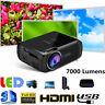 7000 Lumens LED Projector 1080P 3D Home Theater Cinema Multimedia USB HDMI VGA
