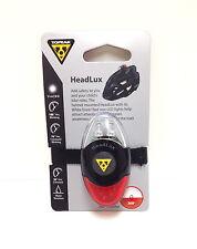 TOPEAK HEADLUX BIKE HELMET MOUNT LIGHT COMMUTOR SAFETY FRONT& REAR LITE NEW