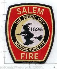 Massachusetts - Salem MA Fire Dept Patch v2 - The Witch City