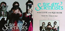 WE ARE SCIENTISTS With Love And Squalor PROMO Two Sided Poster KEITH MURRAY Rare