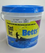 "Betts Old Salt 12' Cast Net 3/8"" Mesh Casting Net 12PM"