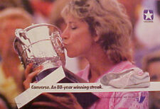 1988 Chris Evert Women's Tennis Star Converse Shoes Trade Promo Print Photo AD