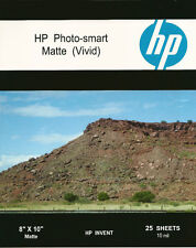 HP Photo-smart Matte Vivid~8 x 10 Photo Paper~2,000ct~HARD~TO~FIND~SIZE~IN~MATTE