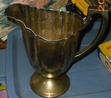 Vintage Bernard Rice's Son & Co.hammered water pitcher~#4357~Apollo~silverplate