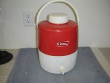 Vintage 1979 Coleman Red White Metal/Plastic 2 Gallon Thermos Cooler Jug Water