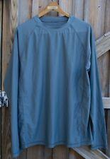 Cabana Life Sz Xl Men's Long sleeve Outdoor Exercise My long Spandex Shirt Gray