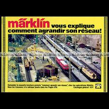 MÄRKLIN Train Electrique (1981) : Pub / Publicité / Original Advert Ad #B562
