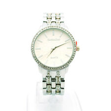Montres Carlo Women's Rhinstone Studded Luxury Stainless Steel Dress Wrist Watch