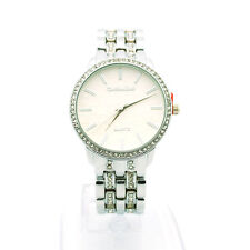 Montres Carlo Women's Rhinstone Studded Luxury Stainless Steel Dress Wrist Watch