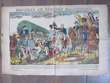 GRANDE IMAGE EPINAL 1880 HONNEUR AU COURAGE MALHEUREUX NAPOLEON