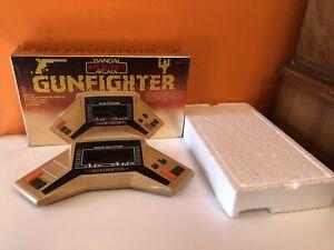 Bandai Gunfighter Vintage Electronic Handheld Arcade Video Game Box Works EUC