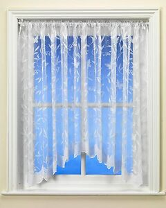Hawaii Butterfly White Net Jardinière Curtain - Various Sizes