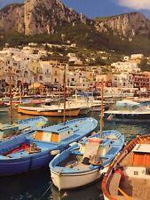 Ceaco Jigsaw Puzzle 300 Pc Boats Naples Capri Italy Marina Fast Ship! New Sealed