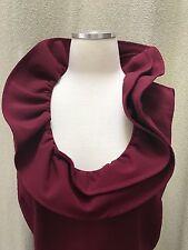Oscar de la Renta  PF12 Italy Vine Ruffle Neck Belted Sheath Dress size 8 M