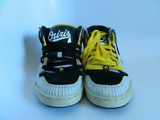 Osiris Slugger Skater Skateboard White Black Yellow Shoes Size 9.5 NYC 83 Mid