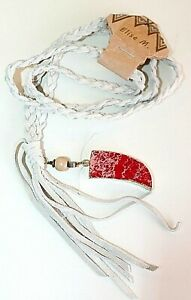 Elise M. Necklaces Leather cord OS & tassel beads Long women's fashion