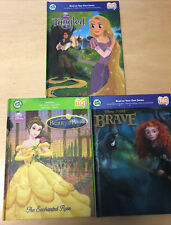 Leapfrog Tag Books lot of 3 Disney Tangled, Brave, Beauty & Beast Free Shipping