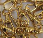 1 vtg pocket watch chain end clasp Lanyard Swivel clip Gold Repair nos dog clip
