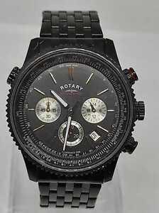 Rotary GB03778/04 (13989) Multi Dial Chronospeed Quartz Men's Watch - Black