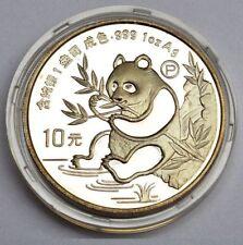 10 Yuan China Feinsilber Münze 1 Oz Unze 1991 Panda PP Proof COA Zertifikat Box