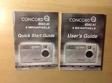 CONCORD 4060AF CAMERA Users Guide / Quick Start Guide