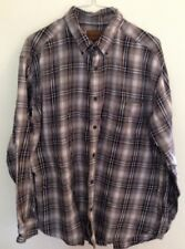 Men's St. John's Bay Gray White Plaid Flannel Shirt Size X- Large - EUC
