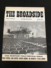 The Broadside Boston Cambridge Newport Folk Blues Festival Rare  7-20-1966