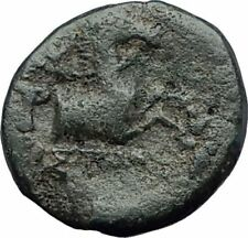 KYME in Aeolis 250BC Authentic Ancient Greek Coin AMAZON w HORSE & VASE i63793