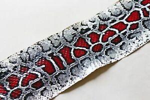 Asia Snake Skin Hide Leather Snakeskin Burmese Python Print 4 colors
