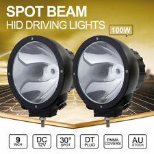 2x 100W 9 inch SPOT HID Driving Lights Xenon Off Road Spotlights Aluminum 12V