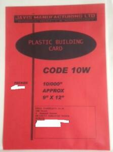"""1 x Plastic Building Card Model Scratch Build Sheet 0.25mm Thick=0.010"""" White 2n"""