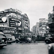 LONDRES c. 1950 - Autos Picadilly Circus Royaume Uni - DIV 2578