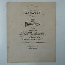 BEETHOVEN piano sonata op.31/2 , antique DUNST edition , circa 1830