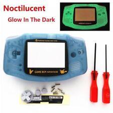 GBA Nintendo Game Boy Advance Replacement Housing Shell Glow in the Dark Pokemon