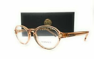 VERSACE VE3259 5215 Transparent Brown Demo Lens Women's Eyeglasses 50 mm