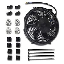 "10"" Inch 120W Universal Radiator Cooling Thermo Fan + Mounting Kit Bow Blade"
