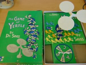 VINTAGE 1960'S REVELL BOARD GAME DR SEUSS THE GAME OF YERTLE COMPLETE CONDITION
