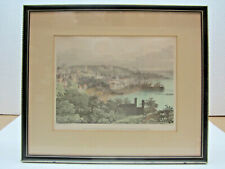 More details for rare antique lithographic print - view of the town of st pierre from fort george