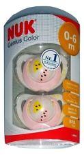 2x NUK Genius Color Latex kiefergerechter Schnuller 0-6 Monate Wassermelone