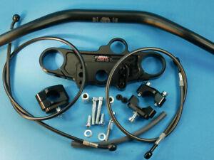 Abm Superbike Booster Handlebar Kit Suzuki SV 1000 S ( Wvbx ) 03-ff Black