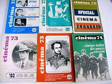 CINEMA lot 6 revues cinéma 73 74 76