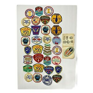 Bowling Patches WIBC KSWBA Crescent Bowl KY Ephemera Vintage 60's 70's Lot of 36