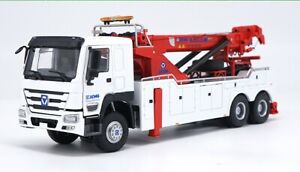 Diecast Toy Model Gift 1:35 XCMG QZF10 Road Service Rescue Wrecker Crane Truck