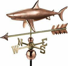 Good Directions Polished Copper Shark w/ Arrow Weathervane - 965Pa