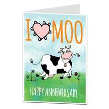 Anniversary Card Funny Silly Quirky Design Wedding I Love You Cards